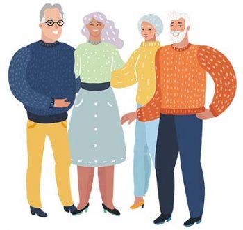 Group of happy older people