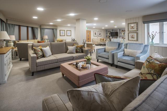 A beautiful communal lounge at Mulbery Court